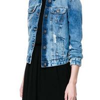 BASIC DENIM JACKET - Blazers - TRF - ZARA United States