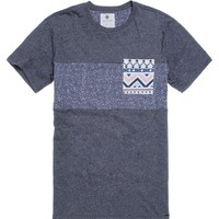 On The Byas Kitsch Noise Crew T-Shirt - Mens Tee - Blue