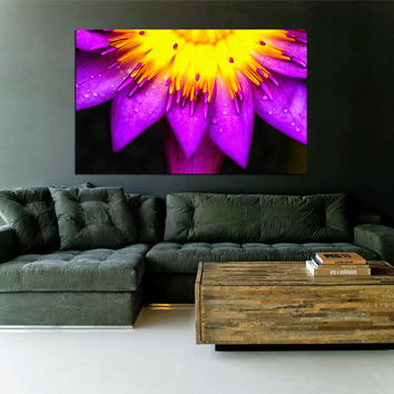 "Canvas Print Artwork Stretched Gallery Wrapped Wall Art Painting Modern Flower Nature Large Size 28x44"" (can3)"