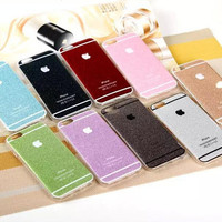 Sparkling Case for Iphone 6 4.7 Inch Glitter Shining Soft TPU Phone Back Skin Candy Color Phone Cases for Apple iPhone 6 Case