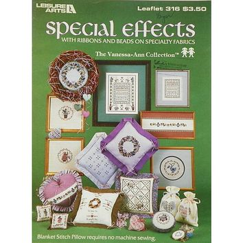 Special Effects with Ribbons - Counted Cross Stitch Leaflet - Leisure Arts