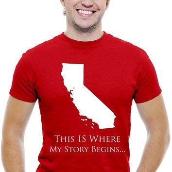 "T-Shirt ""This Is Where My Story Begins"" California Men's T-Shirt"