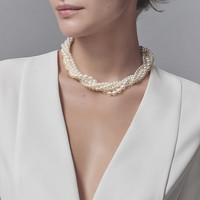 Tiffany & Co. - Paloma Picasso®:Olive Leaf Torsade PearlNecklace