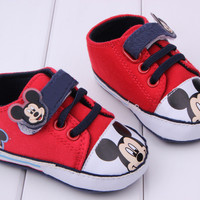 Fashion 3 Colors 1 Pair Send Baby Shoes Newborn Boy Infant Toddler Mickey Cartoon Boys Sport Sneakers Bebe Booties Sapatinhos