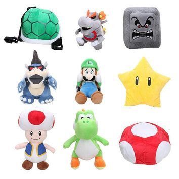 Super Mario party nes switch  18-40cm  Star Bowser Luigi Mushroom Toad Stuffed plush cushion toy  soft plush dolls retail AT_80_8