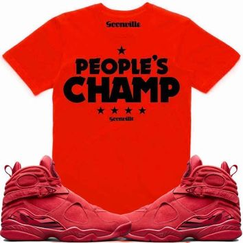 PEOPLE'S CHAMP Sneaker Tees Shirt - Jordan 8 Valentines