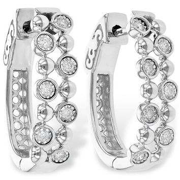 "Ben Garelick ""Champagne Bubbles"" Bezel Set Diamond Earrings"