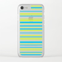 Stripes on white Clear iPhone Case by eDrawings38