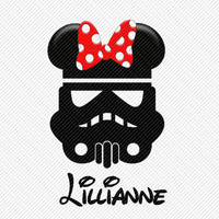 Storm Troopers Star Wars Personalized with Name Minnie Mouse Ears Printable Digital Iron On Transfer Clip Art Tshirts Instant Downl