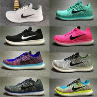 """""""NIKE"""" The new knitted net surface breathable sneaker soft-soled running casual shoes"""