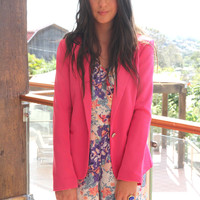 SABO SKIRT Tailored Blazer - Pink - $68.00