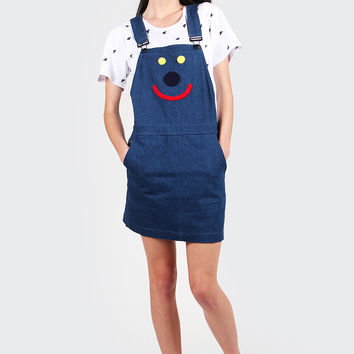 Happy Pinafore Dress - blue