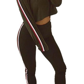 Striped Patchwork Fashion Hoodies Jumpsuits
