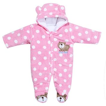Children's Winter Rompers Overall for Kids Pink Blue Warm Snowsuit Long Sleeve Jumpsuit Bear Baby Clothes for Kids