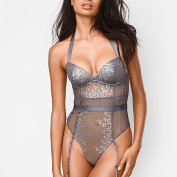 Shine Lace Halter Teddy - Very Sexy - Victoria's Secret