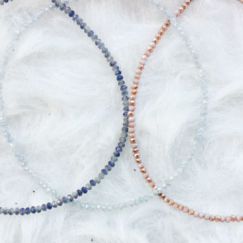 Faceted Seed Bead Chokers