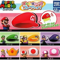 Super Mario Bottle Cap Collection 7 Pics Set Capsule Toys Gashapon