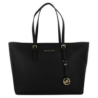 Michael Kors Travel Medium Top Zip Multifunction Tote - Black