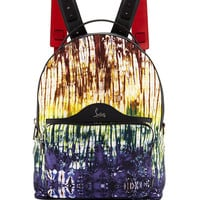 Christian Louboutin Backloubi Painted Canvas Backpack