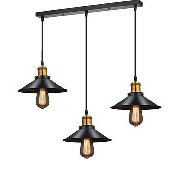Lighting Black Metal Ceiling Chandeliers Vintage Light Dining