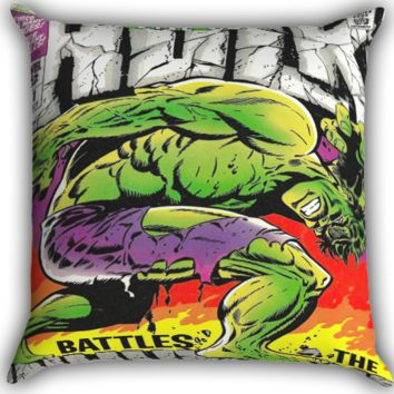 The Hulk Classic Comic Book I0095 Zippered Pillows  Covers 16x16, 18x18, 20x20 Inches