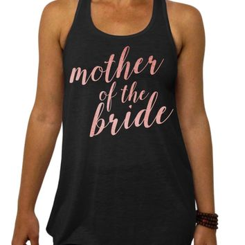 Mother of the Bride, Rose and Pearl Collection, Bridal Party, Clothing, Flowy Tank Top, Racerback, Bachelorette Party, Wedding Shower, Womens Clothing