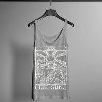 Tarot Card Tank Top - Vintage Tarot Print - Occult Tank - Occult Print Graphic Tank - Graphic Tee - Graphic Tank Top - Occult Shirt