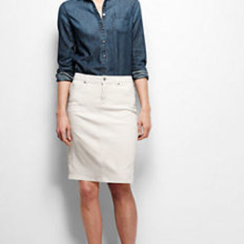 Women's Denim Skirt - Flax from Lands' End