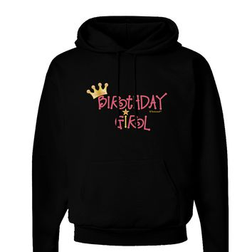 Birthday Girl - Princess Crown and Wand Dark Hoodie Sweatshirt by TooLoud