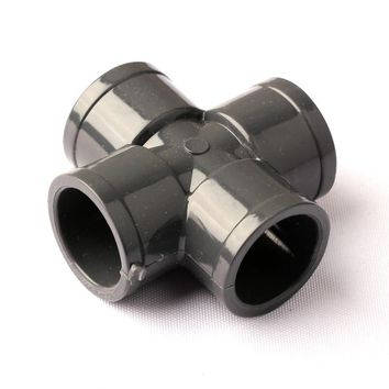 UPVC Equal Inner Diameter 25mm Four Ways Cross Connectors Good Quality Thicken Plastic Garden Irrigation Water Supply Fittings