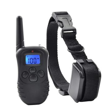 Ipets 998DR-1BL 300M Remote Rechargeable And Waterproof  100Levels Vibration Shock Electronic Dog Training Collar