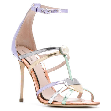 Paula Cademartori Metallic Strappy Sandals - Farfetch