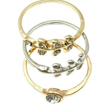 Freja (Multi) Wreath 3 Piece Knuckle Rings