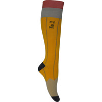 Pencil Knee High Socks in Yellow