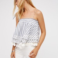 Free People Embroidered Stripe Tube
