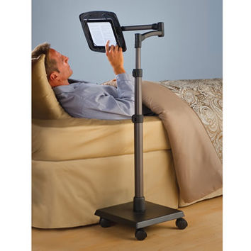 The Rolling Bedside iPad Stand