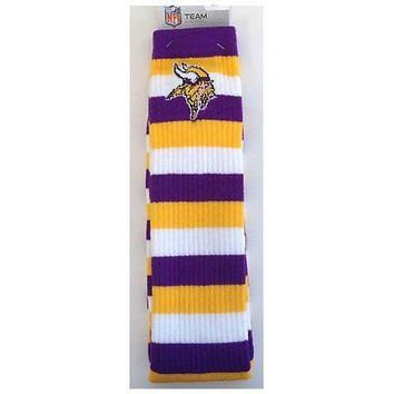 Minnesota Vikings Striped Knee High Hi Tube Socks One Size Fits Most Adults