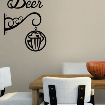 Sign Kitchen Bar Man Cave Design Decal Sticker Wall Vinyl Decor Art