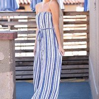 Own The Night Maxi Dress : Blue/Ivory
