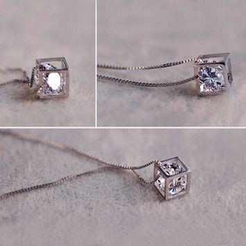 Beautiful Cube Necklace & Pendant