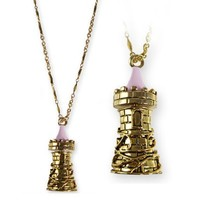 Disney Couture Icon Castle Tower Necklace