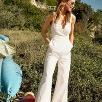Scalloped Chino Jumpsuit