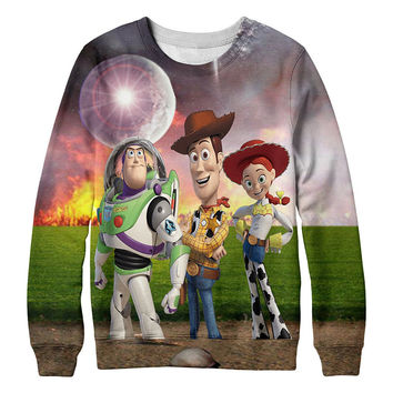 The Walking Toys T-Shirt Toy Story Sherif Woody Cartoon Buzz Lightyear