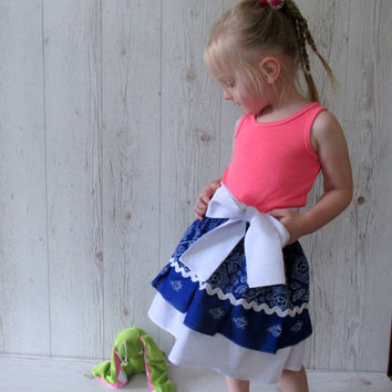 Toddler skirt, Blue Girls Skirt, Toddler Ruffle Skirt, Baby Ruffle Skirt,  Girls Skirt , 2 Tiers Skirt, Tiered Skirt
