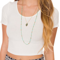 The Wind Beneath Necklace - Turquoise