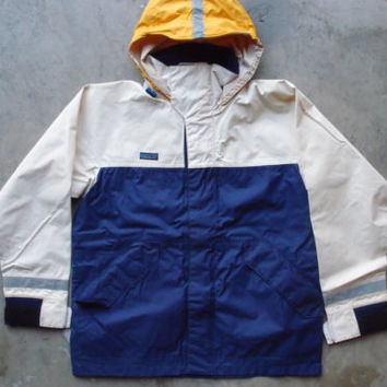 Vintage Patagonia Ocean Technology Sailing Jacket Size S 3M Two Tone Rain Snow