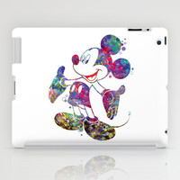 Mickey Mouse Watercolor iPad Case by Bitter Moon