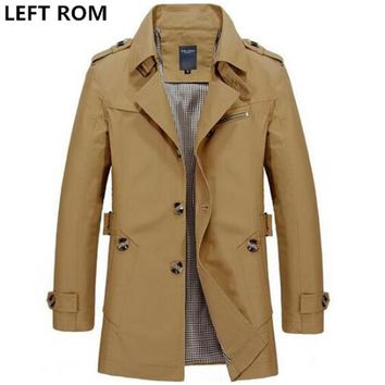 slim Fit Casual trench