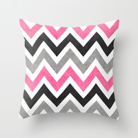 cosmopolitan chevron Throw Pillow by her art