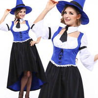 Witch Cosplay Anime Cosplay Apparel Holloween Costume [9220292356]